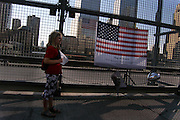 Anniversary at Ground Zero. World Trade Center, New York, New York. September 10, 2005.<br />