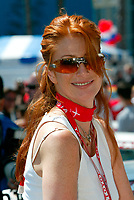 Apr 12, 2003; Long Beach, CA, USA; Actress / Model ANGIE EVERHART @ the 27th Annual Pro/Celebrity Race in Long Beach racing Toyota Celica race cars.  Driving 10 laps on a 1.97 mile track along shoreline drive. <br />