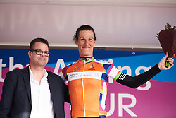 Natalie van Gogh (NED) secures the orange jersey at Healthy Ageing Tour 2018 - Stage 5, a 94.3 km road race in Groningen on April 8, 2018. Photo by Sean Robinson/Velofocus.com