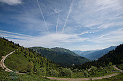 Image shows general view of the Pyrenees near the Spanish border as troops from 77th Brigade Information Warfare Teams take part in Exercise Ernest Escape - an opportunity for them to put in to practice their training in the challenging and remote environment of the French Pyrenees.<br /> <br /> 6th June 2016.<br /> <br /> Credit should read: Cpl Mark Larner RY