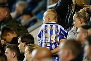 A young fan wears a replica shirt of Barry Bannan of Sheffield Wednesday during the EFL Cup match between Rotherham United and Sheffield Wednesday at the AESSEAL New York Stadium, Rotherham, England on 28 August 2019.
