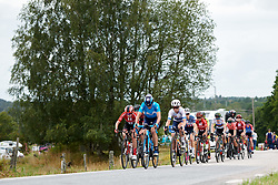 Sheyla Gutierrez Ruiz (ESP) leads up the climb during Postnord UCI WWT Vårgårda WestSweden Road Race, a 145.3 km road race in Vårgårda, Sweden on August 18, 2019. Photo by Sean Robinson/velofocus.com