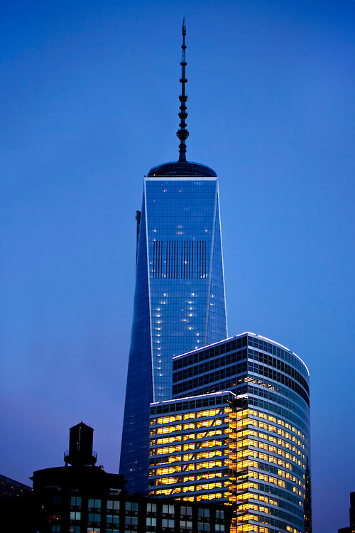 Nearing completion, the New World Trade Center Building. May, 2013.