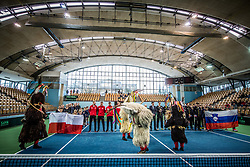 Kurenti during the Day 1 of Davis Cup 2018 Europe/Africa zone Group II between Slovenia and Poland, on February 3, 2018 in Arena Lukna, Maribor, Slovenia. Photo by Vid Ponikvar / Sportida