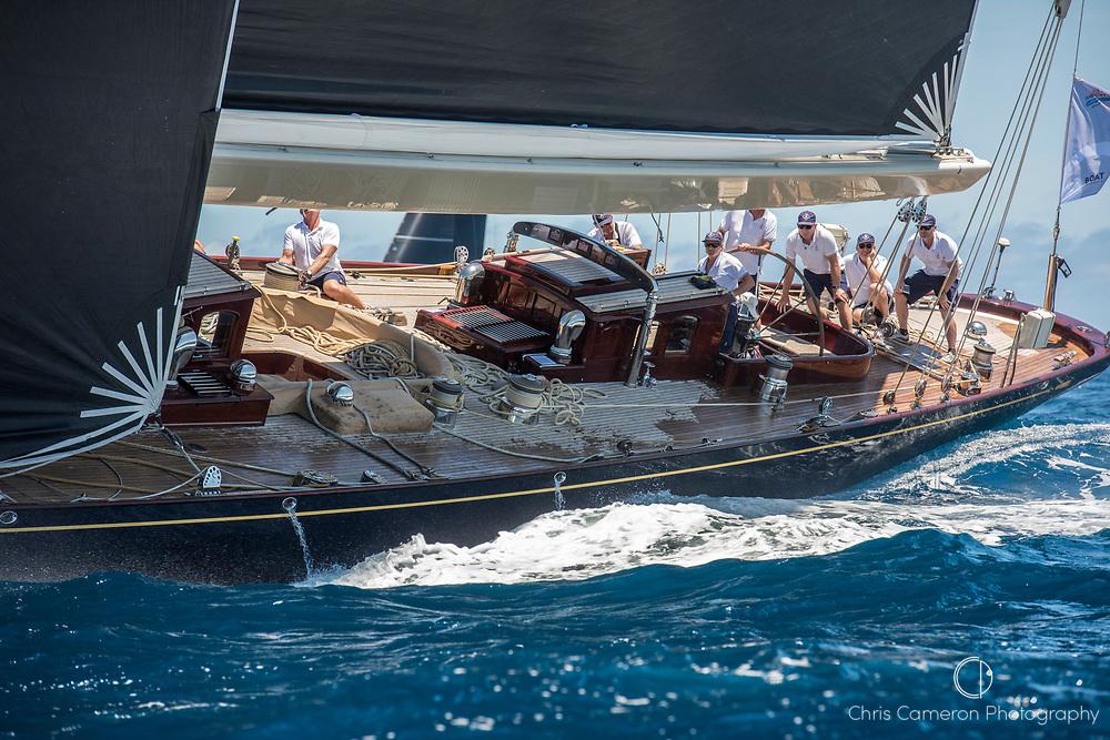 Bermuda, 14th June 2017. America's Cup Superyacht regatta. J Class race Two.) Velsheda JK7.