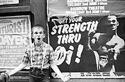 Neville with Strength Thru Oi! Poster, London. 1980s.
