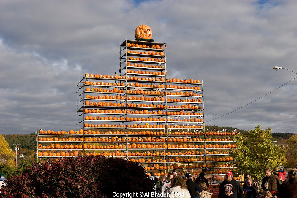 Jack o Lantren tower, Railroad Square, Keene Pumpkin Festival