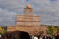 Jack o Lantren tower, Railroad Square, Keene Pumpkin Festival