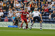 Grant Leadbeater during the Sky Bet Championship match between Preston North End and Middlesbrough at Deepdale, Preston, England on 9 August 2015. Photo by Simon Davies.