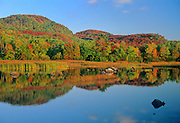 Autumn reflection on North Shore of Lake Superior<br /> Goulais River<br /> Ontario<br /> Canada