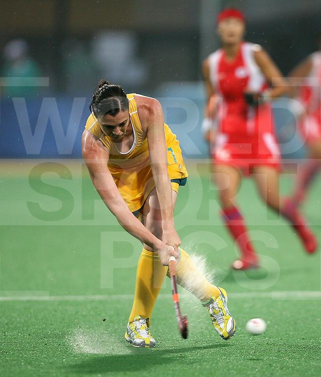 ..Halliday of Australia against Korea at the Beijing Olympic Green Hockey Stadium -10-8-08 ..Photo: Grant Treeby/WSP
