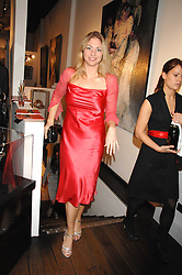 BARONESS ERIKA VON SCHUBERT at a private view of paintings by Lita Cabellut and Russian artist Yuri Kuper at Opera Gallery, 134 New Bond Street, London on 2nd April 2008.<br />