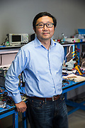 Ming Zhang of zGlue poses for a portrait at zGlue in Mountain View, California, on July 24, 2018. (Stan Olszewski for Silicon Valley Business Journal)