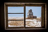 Saskatchewan Fusilier Ghost Town Grain Elevator