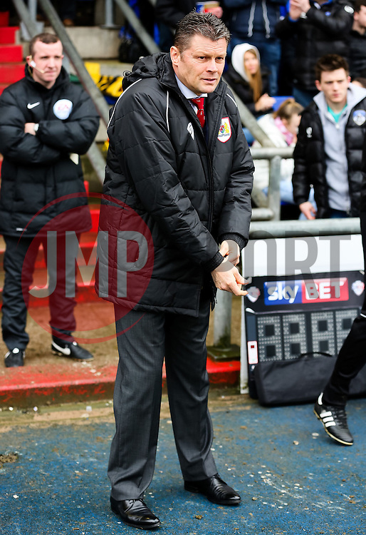 Bristol City Manager, Steve Cotterill - Photo mandatory by-line: Matt McNulty/JMP - Mobile: 07966 386802 - 03/04/2015 - SPORT - Football - Oldham - Boundary Park - Oldham Athletic v Bristol City - Sky Bet League One