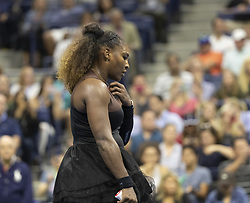 August 31, 2018 - New York, New York, United States - Serena Williams of USA reacts during US Open 2018 3rd round match against Venus Williams of USA at USTA Billie Jean King National Tennis Center (Credit Image: © Lev Radin/Pacific Press via ZUMA Wire)