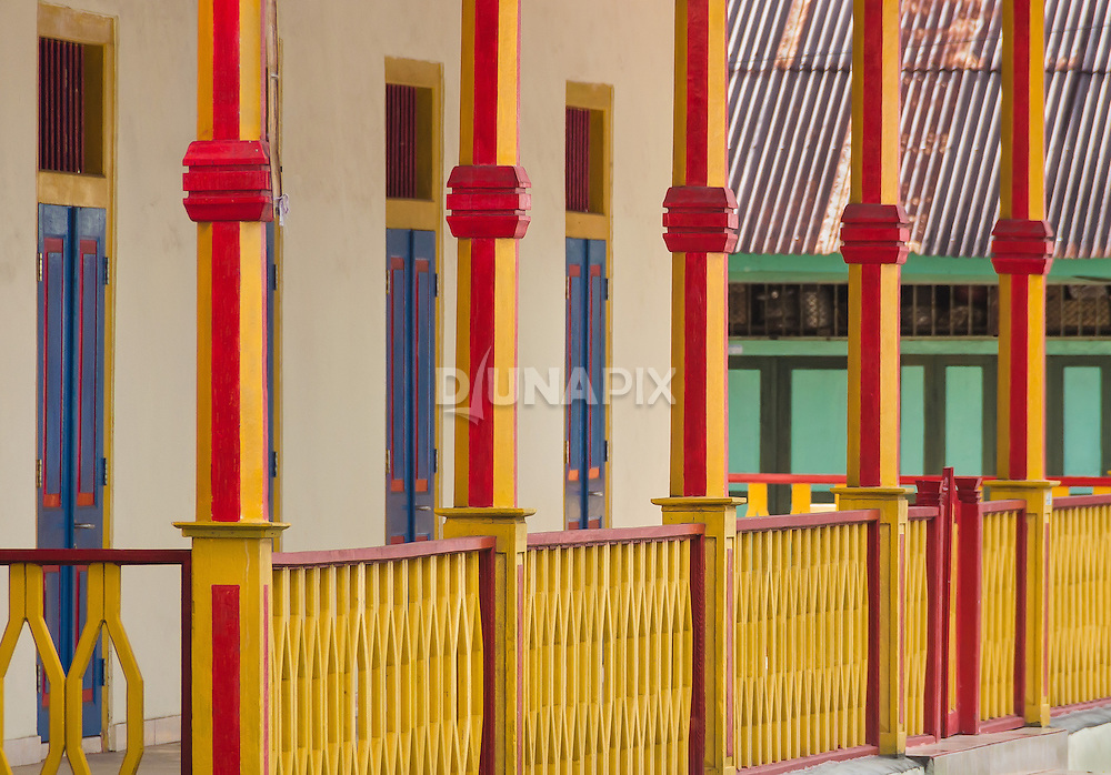 Colorful facades are a hallmark of downtoan Banda Neira.