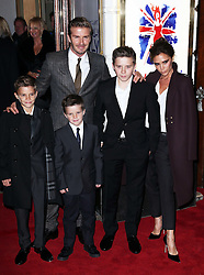 David and Victoria Beckham and their children  arriving at the opening of the Viva Forever musical in London, Tuesday, 11th December 2012.  Photo by: Stephen Lock / i-Images