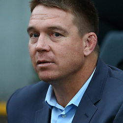 DURBAN, SOUTH AFRICA, 9,JULY, 2016 John Smit (Chief executive officer) of the Cell C Sharks during The Cell C Sharks vs Toyota Cheetahs  Super Rugby Match at Growthpoint Kings Park in Durban, South Africa. (Photo by Steve Haag)<br /> <br /> images for social media must have consent from Steve Haag