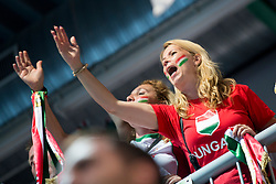 Supporter of Hungary during handball game between Man National Teams of Slovenia and Hungary in 2019 Man's World Championship Qualification, on June 9, 2018 in Arena Bonifika, Ljubljana, Slovenia. Photo by Urban Urbanc / Sportida