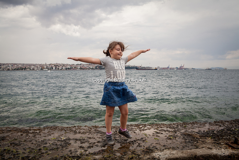 6 year old Syrian refugee Zia in Istanbul, where she now lives with her mother, whilst her father remains in Syria.