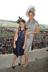 DONNA AIR and her daughter FREYA at the 2012 Investec sponsored Derby at Epsom Racecourse, Epsom, Surrey on 2nd June 2012.