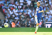 Chelsea Midfielder Cesc Fabregas (4) in action during the FA Community Shield match between Chelsea and Manchester City at Wembley Stadium, London, England on 5 August 2018. Picture by Stephen Wright.