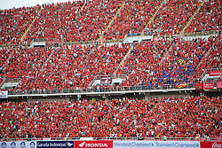 BANGKOK, THAILAND - Sunday, July 28, 2013: Liverpool supporters during a preseason friendly match against Thailand at the Rajamangala National Stadium. (Pic by David Rawcliffe/Propaganda)