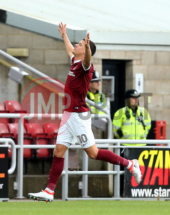 Alex Revell of Northampton Town celebrates scoring a goal against Bristol Rovers to make it 1-0 - Mandatory by-line: Robbie Stephenson/JMP - 01/10/2016 - FOOTBALL - Sixfields Stadium - Northampton, England - Northampton Town v Bristol Rovers - Sky Bet League One