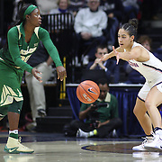 STORRS, CONNECTICUT- NOVEMBER 17: Alexis Jones #30 of the Baylor Bears passes past Kia Nurse #11 of the UConn Huskies during the UConn Huskies Vs Baylor Bears NCAA Women's Basketball game at Gampel Pavilion, on November 17th, 2016 in Storrs, Connecticut. (Photo by Tim Clayton/Corbis via Getty Images)