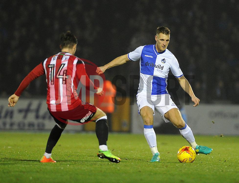 Lee Brown of Bristol Rovers - Mandatory by-line: Neil Brookman/JMP - 14/02/2017 - FOOTBALL - Memorial Stadium - Bristol, England - Bristol Rovers v Sheffield United - Sky Bet League One
