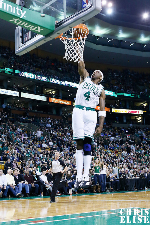 09 January 2013: Boston Celtics shooting guard Jason Terry (4) dunks the ball during the Boston Celtics 87-79 victory over the Phoenix Suns at the TD Garden, Boston, Massachusetts, USA.