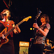 WASHINGTON, D.C. - March 10th, 2011: Mary Timony, Carrie Brownstein and Janet Weiss of WIld Flag perform at the Black Cat in Washington, D.C. The band consists of former members of Sleater-Kinney, Helium and The Minders and will record and release their debut album later this year.   (Photo by Kyle Gustafson/For The Washington Post)
