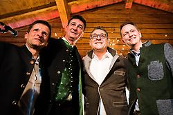 """27.02.2020, Prater Alm, Wien, AUT, Aschermittwochtreffen """"Die Allianz für Österreich"""" mit HC Strache, im Bild v. l. Dietrich Kops (DAOe), Karl Baron (DAOe), Heinz Christian Strache, Klaus Handler (DAOe)// Ash Wednesday meeting """"The Alliance for Austria"""" with HC Strache in Vienna, Austria on 2020/02/26, EXPA Pictures © 2020, PhotoCredit: EXPA/ Florian Schroetter"""
