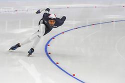 February 23, 2018 - Pyeongchang, Gangwon, South Korea - Shani Davis of United States  at 1000 meter speedskating at winter olympics, Gangneung South Korea on February 23, 2018. (Credit Image: © Ulrik Pedersen/NurPhoto via ZUMA Press)
