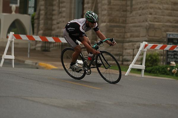 2007 Snake Alley Criterium, Masters 50+ and 60+ race. Burlington, Iowa.