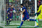 09 Luis Suarez from Uruguay of FC Barcelona celebrating his goal with 10 Leo Messi from Argentina of FC Barcelona during the Spanish championship La Liga football match between FC Barcelona and Real Madrid on May 6, 2018 at Camp Nou stadium in Barcelona, Spain - Photo Xavier Bonilla / Spain ProSportsImages / DPPI / ProSportsImages / DPPI