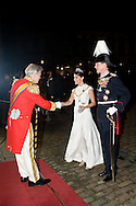 01.01.2016. Copenhagen, Denmark.<br /> Princess Marie and Prince Joachim's arrival to Amalienborg Palace for the traditional gala dinner with the Danish government officials, civil servants, and members/employees of the royal court. <br /> Photo: &copy; Ricardo Ramirez