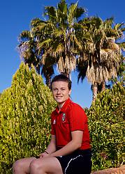 ALHAURÍN EL GRANDE, SPAIN - Sunday, March 3, 2019: Wales' Hayley Ladd poses for a portrait at Alhaurin Golf Resort in Spain. (Pic by David Rawcliffe/Propaganda)