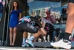 LANDA Mikel from Spain of Team Sky (GBR) signing in before the start at Nijmegen, stage 3 from Nijmegen to Arnhem running 190 km of the 99th Giro d'Italia (UCI WorldTour), The Netherlands, 8 May 2016. Photo by Pim Nijland / PelotonPhotos.com | All photos usage must carry mandatory copyright credit (Peloton Photos | Pim Nijland)