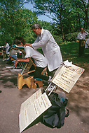 Chinese massage in Central Park, New York City, 1994.