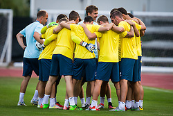 NK Domzale players during practice session before football match between NK Domzale and FC Lusitanos Andorra in second leg of UEFA Europa league qualifications on July 6, 2016 in Andorra la Vella, Andorra. Photo by Ziga Zupan / Sportida