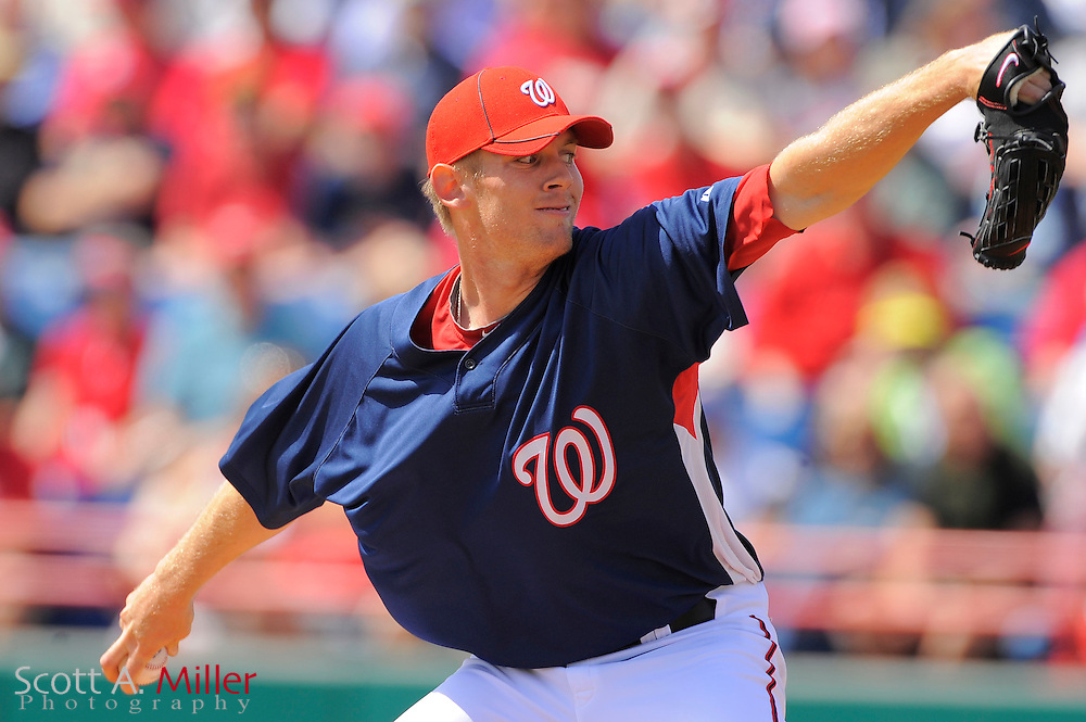 March 14, 2010 - Washington Nationals pitcher Stephen Strasburg (37) during the Nationals game against the St. Louis Cardinals at Space Coast Stadium in Viera, FL...©2010 Scott A. Miller