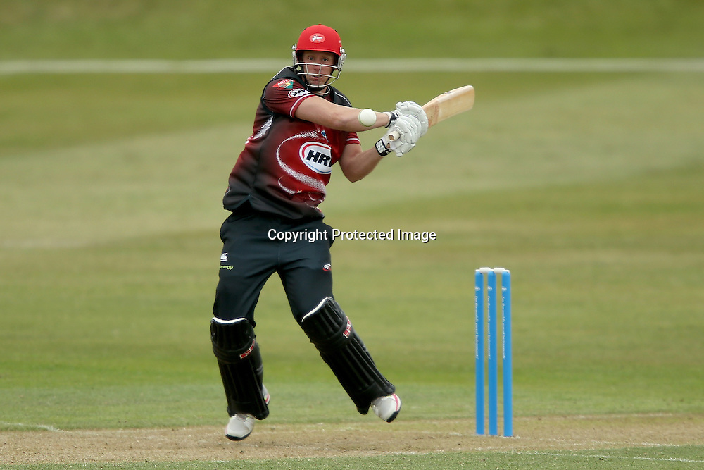 Canterbury's Brendon Diamanti bats during the HRV Cup Twenty20 Cricket match between Canterbury Wizards and Otago Volts at Aorangi Oval, Timaru on Thursday 27 December 2012. Photo: Martin Hunter/Photosport.co.nz