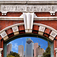 Houston, Texas Composite of Two Photos<br />
