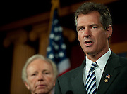 May 6,2010 - Washington, District of Columbia USA - Senator Scott Brown along with Senator Joe Lieberman is proposing legislation to strip citizenship from terror suspects in order to make it possible to sidestep the need to Mirandize them. The bill has bipartisan and bicameral support. Rep. Jason Altimire (D-Pa.) and Rep. Charlie Dent (R-Pa.) are behind the legislation on the House side..(Credit Image: © Pete Marovich/ZUMA Press)