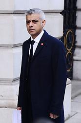 Sadiq Khan beim Remembrance Sunday in London / 131116 *** Remembrance Sunday, London, 13 Nov 2016 ***