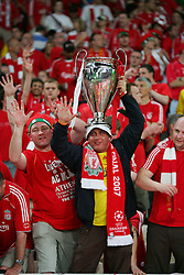 Athens, Greece - Wednesday, May 23, 2007: Liverpool's fans before the UEFA Champions League Final against AC Milan at the OACA Spyro Louis Olympic Stadium. (Pic byDavid Rawcliffe/Propaganda)