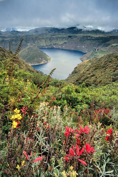 Highlands volcanic lake, Ecuador