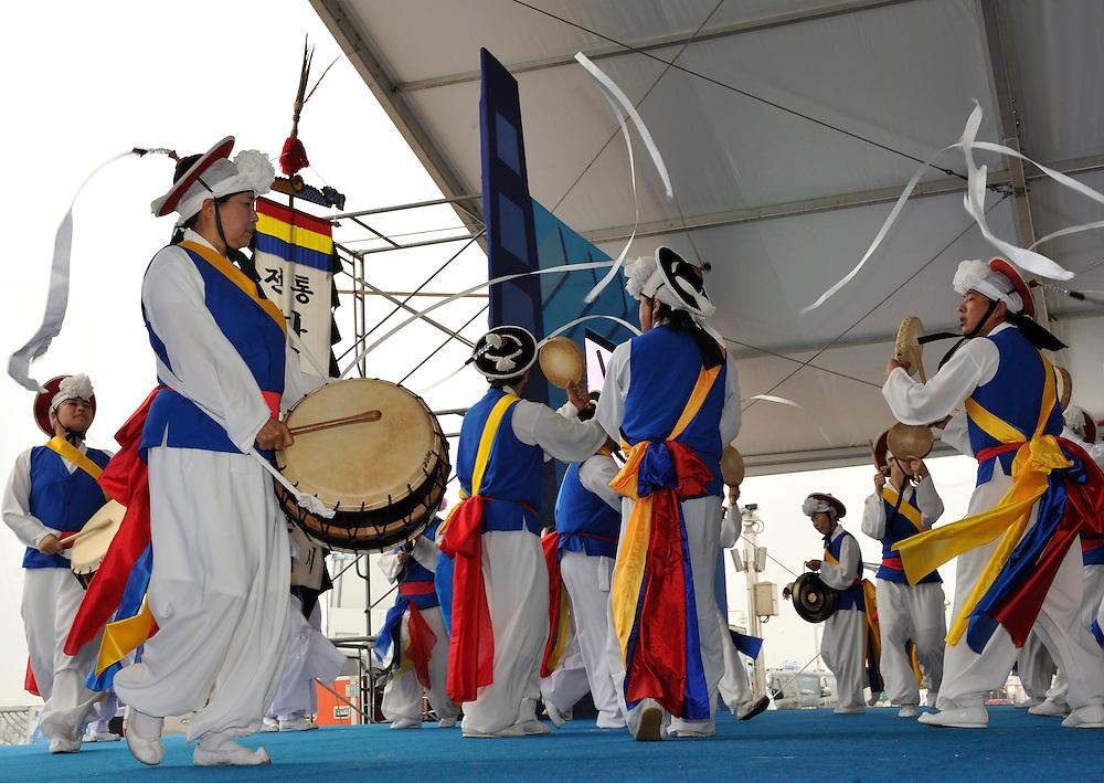 Korean Gypsy band entertain the crowds. Photo:Chris Davies/WMRT